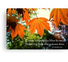 Fluttering Leaves Canvas Print