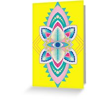 Tribal Eye Motif Greeting Card