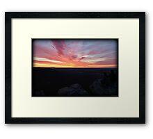 Hiking Dawn Framed Print