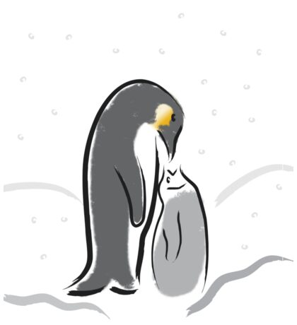 Baby Penguin Feeding time Sticker