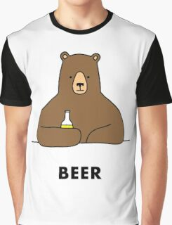 Beer Bear Graphic T-Shirt