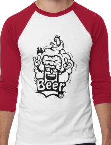 Beer Graffiti Men's Baseball ¾ T-Shirt