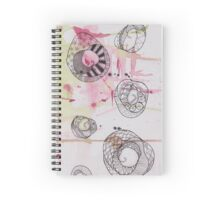 Green & pink watercolour drawing Spiral Notebook