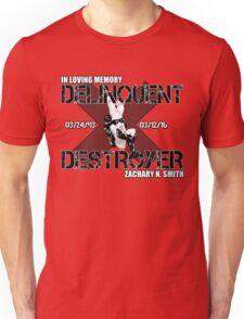 Delinquent Destroyer Tribute Shirt 1 [Square Design] Unisex T-Shirt