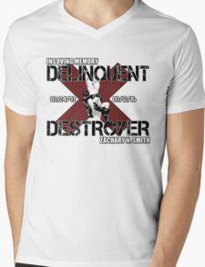 Delinquent Destroyer Tribute Shirt 1 [Square Design] Mens V-Neck T-Shirt