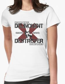 Delinquent Destroyer Tribute Shirt 1 [Square Design] Womens Fitted T-Shirt