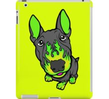 Custom Hot Rod Bull Terrier Lime Green  iPad Case/Skin