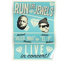Retro Run The Jewels  Poster
