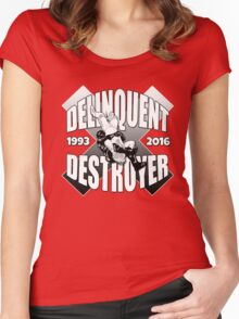Delinquent Destroyer Tribute Shirt 2 [Round Design] Women's Fitted Scoop T-Shirt