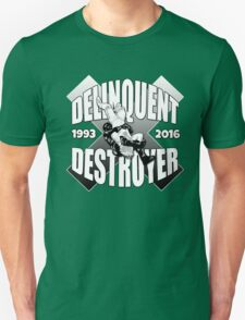 Delinquent Destroyer Tribute Shirt 2 [Round Design] Unisex T-Shirt