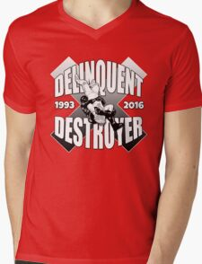 Delinquent Destroyer Tribute Shirt 2 [Round Design] Mens V-Neck T-Shirt