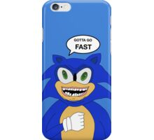 Sonic-Gotta Go Fast iPhone Case/Skin