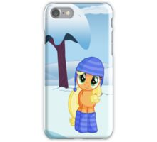 Applejack Snow Day iPhone Case/Skin