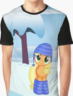 Applejack Snow Day Graphic T-Shirt