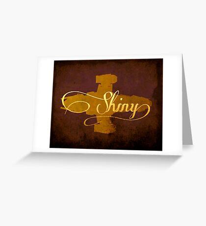 Shiny Serenity Firefly Art Greeting Card