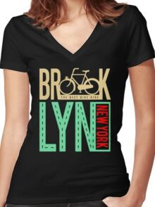 Brook the best bike ride Women's Fitted V-Neck T-Shirt