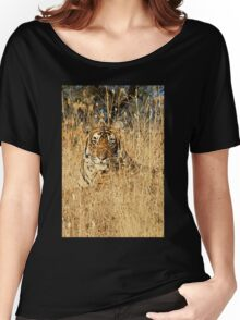 Sub-Adult Male Bengal Tiger Women's Relaxed Fit T-Shirt