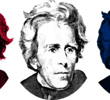 Andrew Jackson Red, White, and Blue Sticker