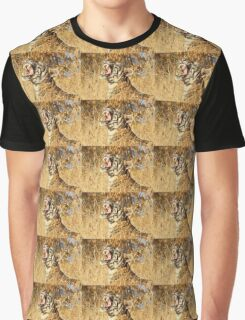 Yawn: Sub-Adult Male Bengal Tiger Graphic T-Shirt