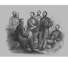 President Lincoln and His Commanders Photographic Print