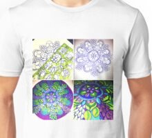 Grape Mandala Progression Unisex T-Shirt