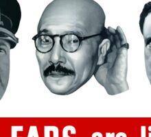 Enemy Ears Are Listening -- WWII Propaganda Sticker