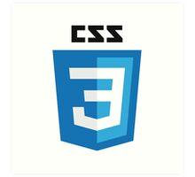 CSS3 Art Print
