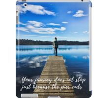 Crystal Blue Lake Pier and Person Journey iPad Case/Skin