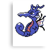 Kingdra Retro Canvas Print