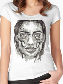Skull Girl - Decay Women's Fitted Scoop T-Shirt