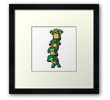 Funny Teenage Mutant Ninja Turtle  Framed Print