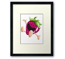 i love strawberries! Framed Print