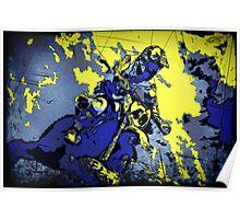 Motocross Dirt-Bike Championship Racer Poster