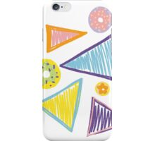 Triangles and Donuts by Clare iPhone Case/Skin