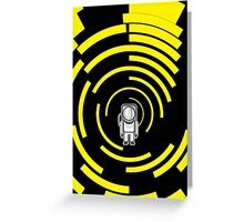 Space Man Yellow Greeting Card