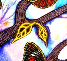 On Golden Wings - Butterflies Sticker