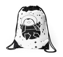 Space Penguin Drawstring Bag