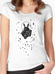 Space Bunny Women's Fitted Scoop T-Shirt