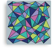 Multi-colored Polygonal Design Canvas Print