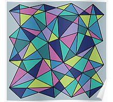 Multi-colored Polygonal Design Poster