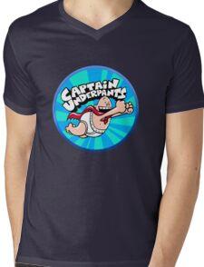 Captain Underpants  Mens V-Neck T-Shirt