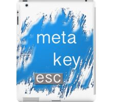 """meta key esc"" typography iPad Case/Skin"