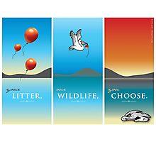 Pelican balloon graphic Photographic Print