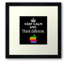 Keep Calm And Think Different Framed Print