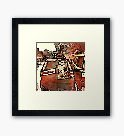 Narrow Boat Ilford Framed Print