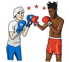 Warhol vs Basquiat Photographic Print