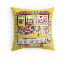 Afternoon tease Throw Pillow