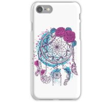 Dream catcher with ornament and roses iPhone Case/Skin