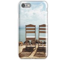 Two Empty Chairs On Beach iPhone Case/Skin