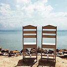 Two Empty Chairs On Beach by visualspectrum
